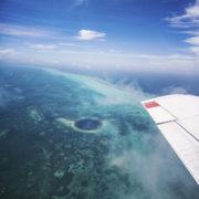 Blue Hole over flight
