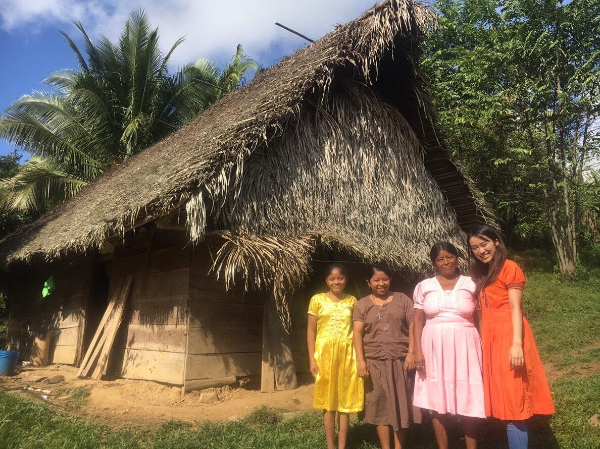 インターン生清水 マヤ民族の村訪問記