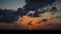 観察塔から眺める夕陽