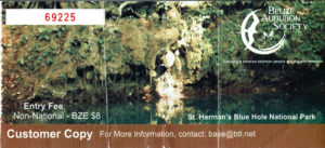 Entrance Ticket of Blue Hole NP