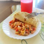 breakfast at homestay