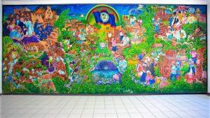 mural of Corozal Town Hall